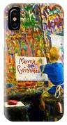 Painting My First Christmas Card IPhone Case