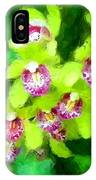Painting Of Green Orchids IPhone Case