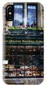 Can You See The Ghost In The Top Window At The Old Original Bakewell Pudding Shop IPhone Case