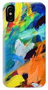 And God Said Let There Be Light - Genesis1 3 - Blue Abstract Expressionist Painting IPhone Case