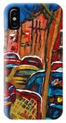 Paintings Of Montreal Hockey City Scenes IPhone Case