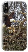 Pair Of Bald Eagles At Their Nest IPhone Case