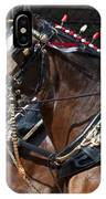 Pair Of Budweiser Clydesdale Horses In Harness Usa Rodeo IPhone Case