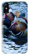 Pair Of Male Mandarin Duck-signed-#8236 IPhone Case