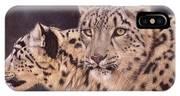 Pair Of Snow Leopards IPhone Case