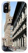Palazzo Vecchio And Uffizien IPhone Case