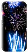 Pale Blue And Red Fireworks IPhone Case