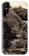 Palenque From The Jungle Panorama Sepia IPhone Case