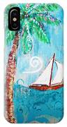 Palm Tree And Sailboat By Jan Marvin IPhone Case