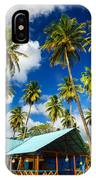 Palm Trees And Colorful Building IPhone Case