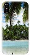 Palm Trees On The Beach, Rangiroa IPhone Case