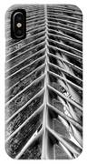 Palms E The Other Way In Black And White IPhone Case