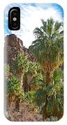 Palms Stand Tall In Andreas Canyon In Indian Canyons-ca IPhone Case