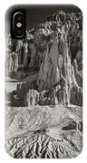 Panaca Sandstone Formations In Black And White Nevada Landscape IPhone Case