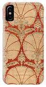 Panel Of Red Cut Velvet With Carnation IPhone Case