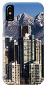 Pano Vancouver Snowy Skyline IPhone Case