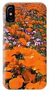 Panorama Califonria Poppies And Hollyleaf Gilia Wildflowers IPhone Case
