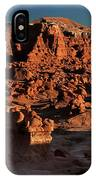 Panorama Of Hoodoos At Sunset Goblin Valley State Park Utah IPhone Case