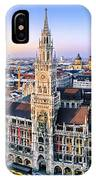 Panorama View Of Munich City Center IPhone Case