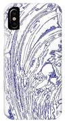 Panoramic Grunge Etching Royal Blue Color IPhone Case