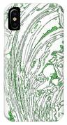 Panoramic Grunge Etching Sage Color IPhone Case