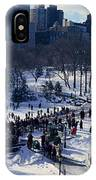 Panoramic View Of Ice Skating Wollman IPhone Case