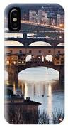 Panoramic View Of Ponte Vecchio - Florence - Tuscany IPhone Case