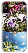 Cup Of Pansies IPhone Case