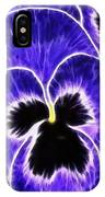 Pansy Expressive Brushstrokes IPhone Case