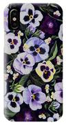 Pansy Faces IPhone Case