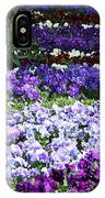 Pansy Field IPhone Case