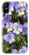 Pansy Flowers In Spring Background IPhone Case