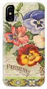 Pansy Garden-b IPhone Case