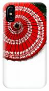 Paper Umbrella With Swirl Pattern On Fence IPhone Case