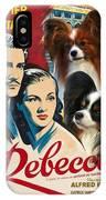 Papillon Art - Rebecca Movie Poster IPhone Case