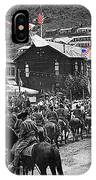 Parade Bisbee Arizona July 4th 1909 Color Added 2013 IPhone Case