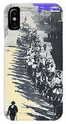 Parade Honoring General Nelson A. Miles  11-08-1887 Geronimo's Capture Tucson Color Added 2008 IPhone Case