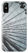 Paris Blue Ferris Wheel IPhone Case