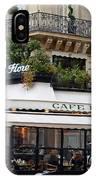 Paris Cafe De Flore - Paris Fine Art Cafe De Flore - Paris Famous Cafes And Street Cafe Scenes IPhone Case