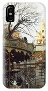 Paris Carousel Merry Go Round Montmartre - Carousel At Sacre Coeur Cathedral  IPhone Case