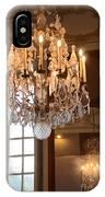 Paris Crystal Chandelier - Paris Rodin Museum Chandelier - Sparkling Crystal Chandelier Reflection IPhone Case