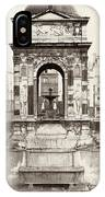 Paris Fountain, C1858 IPhone Case