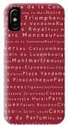 Paris In Words Red IPhone Case