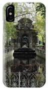 Paris Jardin Du Luxembourg Gardens Autumn Fall  - Medici Fountain Sculpture Autumn Fall Photographs IPhone Case