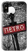 Paris Metro IPhone X Case by Elena Elisseeva
