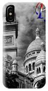 Paris Montage 2 IPhone Case