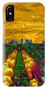 Paris Skyline Pop Art IPhone Case