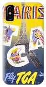 Paris Vintage Travel Poster IPhone X Case