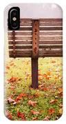 Park Bench In Autumn IPhone Case