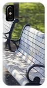Park Benches At Portland Waterfront Park IPhone Case
